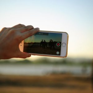 Video smartphone filmen Teksten schrijven LinkedIn migusti cursus